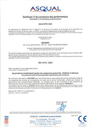 Certificato CE NEWMAT