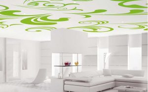 a printed stretch ceiling