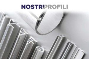 NOSTRI/PROFILI - Disponibile in P.V.C o alluminio estruso