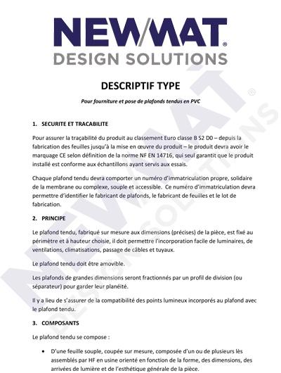 TIPO DESCRIPCIÓN Para el suministro e instalación de techos tensados de PVC