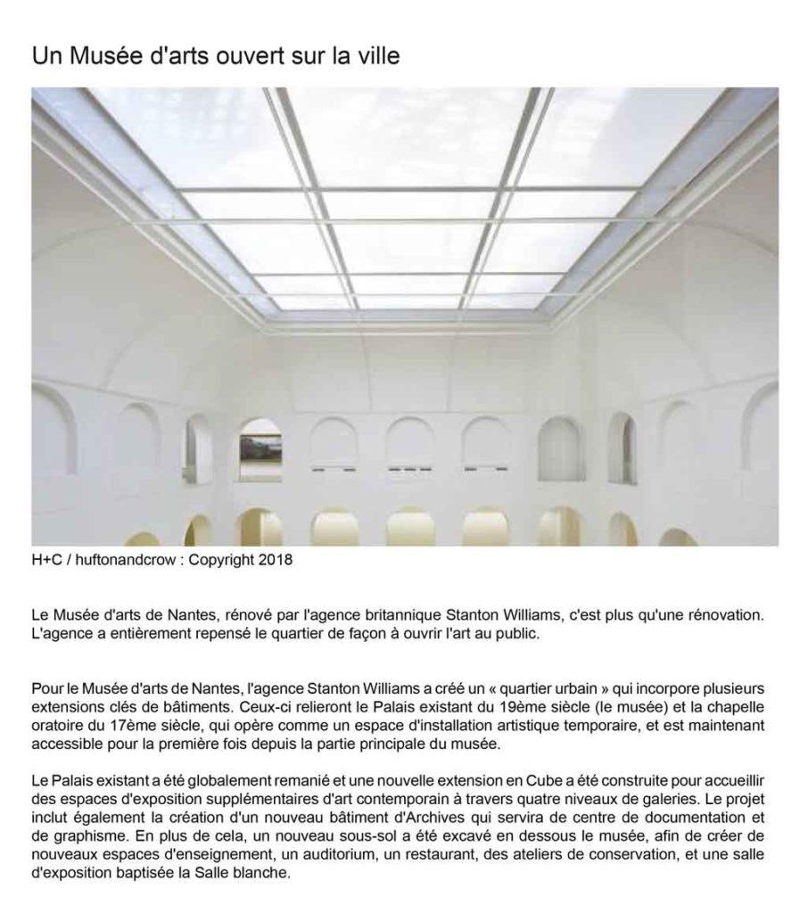 Un Musée d'arts ouvert sur la ville